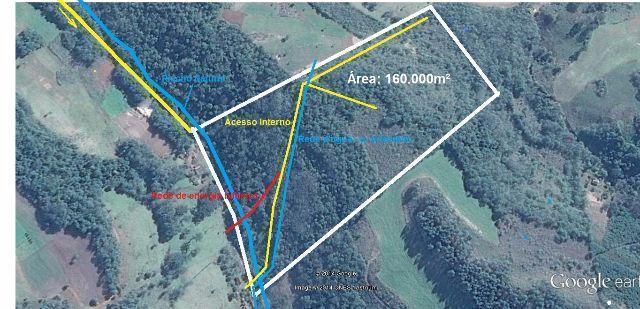 Linda Área de Terra a 1.200m da Com. de B. do Tigre