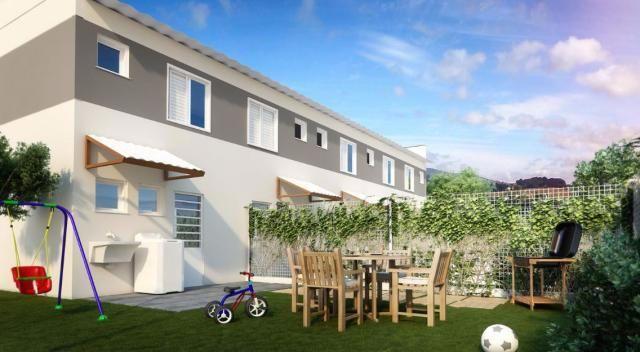 Casas em  apenas 3mil de entrada - 2 dorms,quintal e area de lazer completa