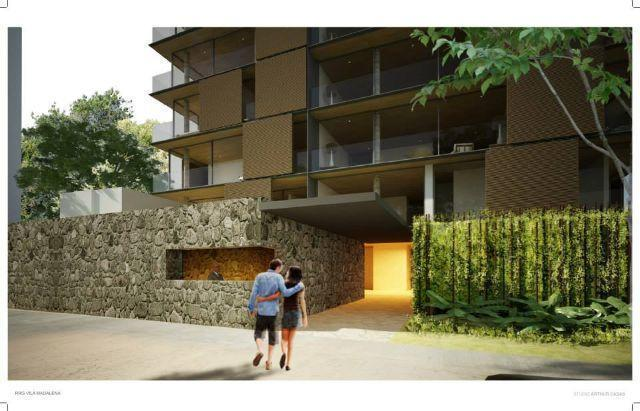 Aptos Luxo tipo Casas Sobrepostas numa rua arborizada na Vila Madalena. Design único