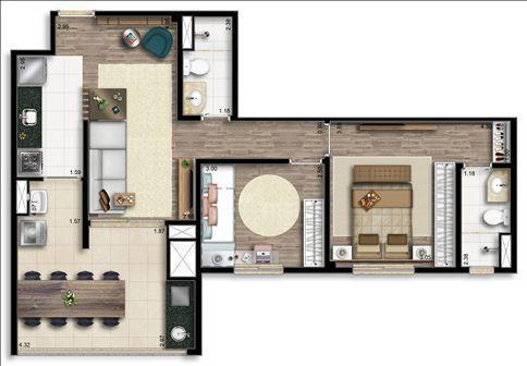 Apartamentos de 2 ou 3 dormitórios em Santo Amaro