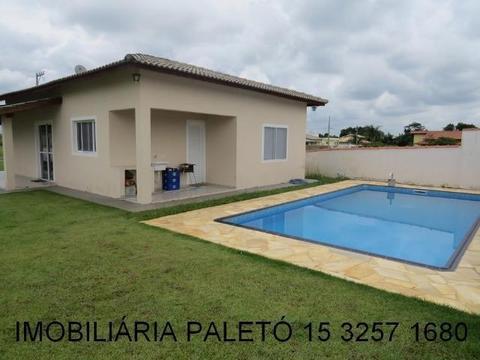 REF 1374 Casa com 3 dormitórios (1 suíte), piscina, Condomínio Fechado, Imobiliária Paletó