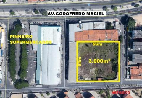 Terreno na Maraponga, 3.000m², terreno comercial, próximo avenida Godofredo Maciel