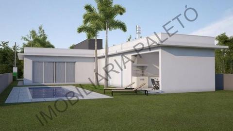 REF 1375 Casa com 3 dormitórios, piscina, churrasqueira, Imobiliária Paletó