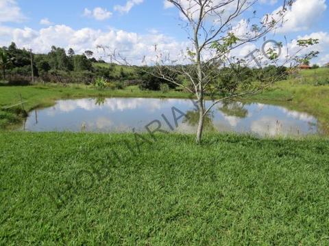 REF 1122 Sítio 1 alqueire, excelente casa, rio, lago com peixes, Imobiliária Paletó