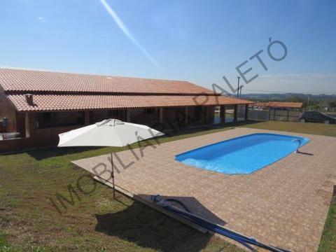REF 225 Chácara 1187 m², casa nova com 3 dormitórios, Imobiliária Paletó