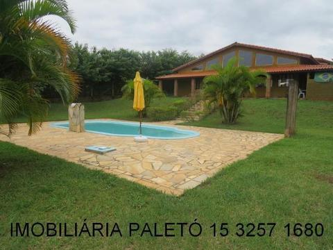 REF 306 Chácara 2500 m², bela casa, piscina, campinho, Imobiliária Paletó
